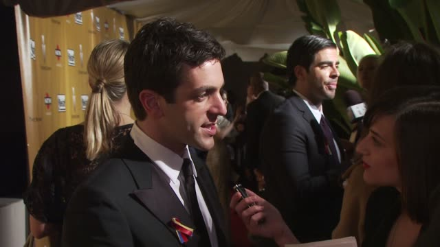 bj novak at the the weinstein company golden globe awards afterparty at beverly hills ca - b.j. novak stock videos and b-roll footage