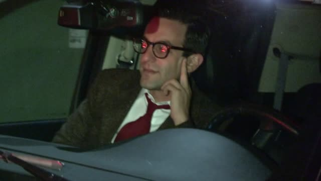 bj novak departs just jared halloween party in hollywood 10/27/12 - b.j. novak stock videos and b-roll footage