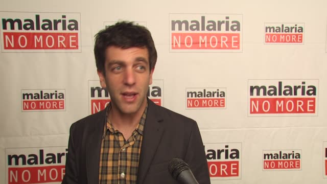 j novak on what people can do to support the campaign on one statistic he wants people to know on how mosquitoes at the malaria no more comedy fights... - b.j. novak stock videos and b-roll footage