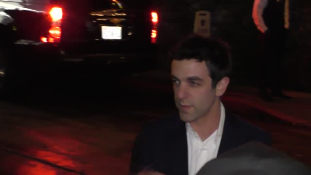 bj novak outside the vanity fair's young hollywood party in west hollywood in celebrity sightings in los angeles - b.j. novak stock videos and b-roll footage