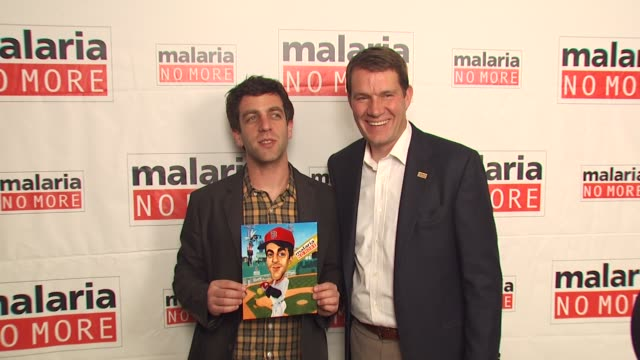 bj novak scott case at the malaria no more comedy fights malaria campaign launch at west hollywood ca - b.j. novak stock videos and b-roll footage