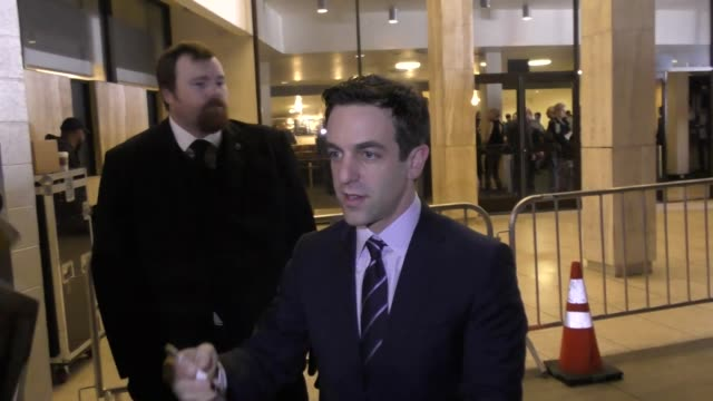 j novak talks about his favorite items at mcdonald's outside the founder premiere at arclight theatre in hollywood in celebrity sightings in los... - b.j. novak stock videos and b-roll footage