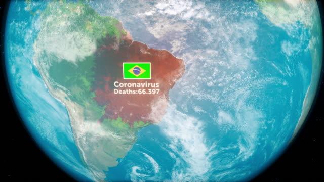 novel coronavirus ncov spreading all over brazil - brazil stock videos & royalty-free footage