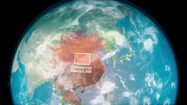 中国中に広がる小説コロナウイルスncov - 感染症点の映像素材/bロール