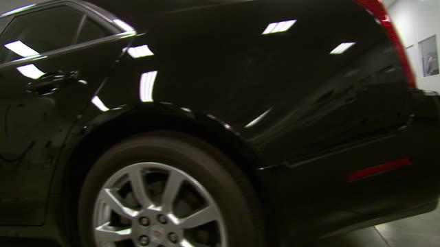 november 19 2008 pan display car at gm auto plant / lansing michigan united states - lansing stock videos and b-roll footage