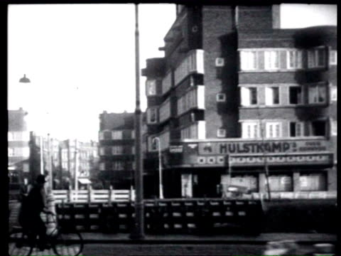 november 1927 b/w modern public housing in amsterdam west / amsterdam, noord-holland, netherlands - 1927 stock videos & royalty-free footage