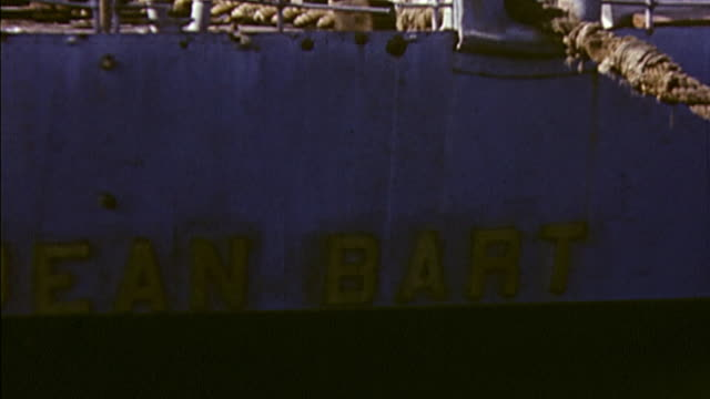 november 1942 badly damaged french battleship jean bart after operation torch / casablanca, morocco - 1942 stock videos & royalty-free footage