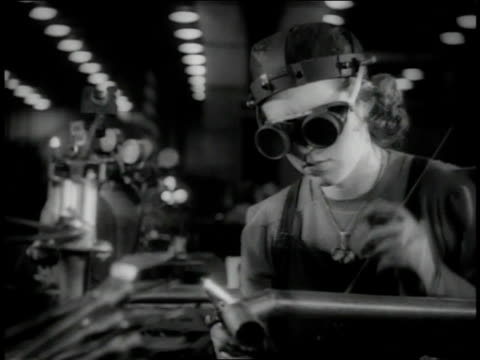 november 1942 ms worker welding with acetylene torches / long beach, california, united states  - 1942 stock videos & royalty-free footage