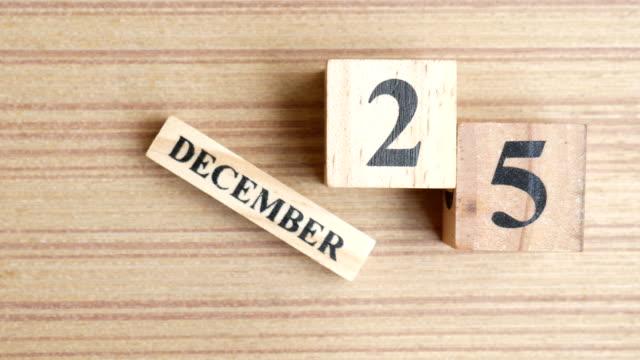 november 25th calendar - december stock videos & royalty-free footage