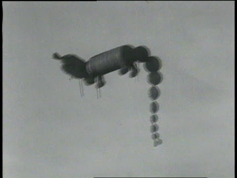 november 26, 1931 montage crowd watching large animal balloons floating / new york, new york, united states - 1931 stock videos & royalty-free footage