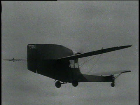 november 26, 1931 ts tail-first plane landing smoothly / springfield, massachusetts  - 1931 stock videos & royalty-free footage