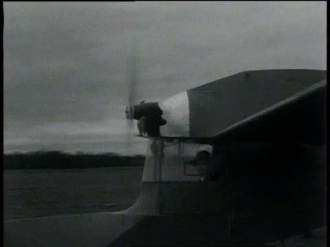 november 26, 1931 ts tail-first plane taking off / springfield, massachusetts  - 1931 stock videos & royalty-free footage