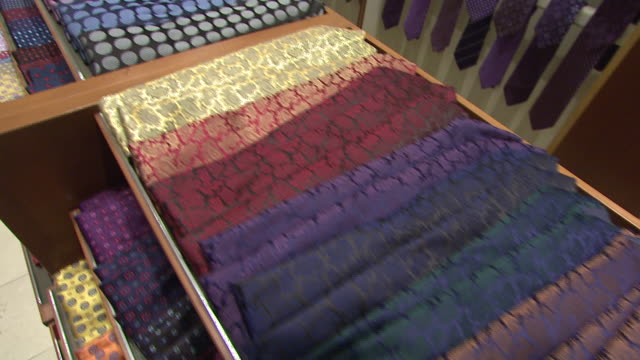 november 27 2009 ds men's ties on display in neiman marcus / united states - neiman marcus stock videos & royalty-free footage
