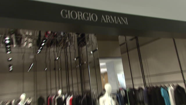 november 27 2009 zi the giorgio armani department in neiman marcus / united states - neiman marcus stock videos & royalty-free footage