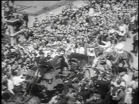november 3, 1952 montage presidential inauguration of carlos ibanez in santiago / chile - 1952 stock videos & royalty-free footage