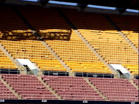 vídeos y material grabado en eventos de stock de november 7 2003 pan empty seating at rfk stadium / washington dc united states - estadio rfk