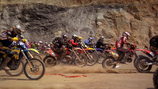 november 9, 2009 montage professional motocross riders competing in an all terrain competition - recreational horseback riding stock videos & royalty-free footage