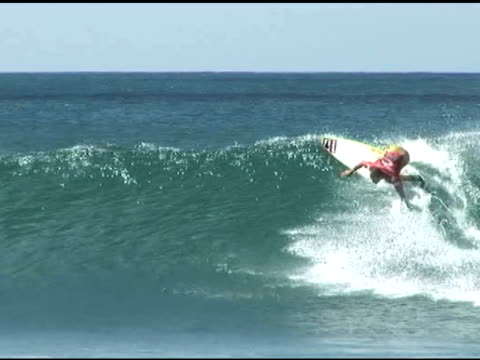 november 9, 2009 professional surfer jamie o'brien riding wave backside - letterbox format stock videos & royalty-free footage