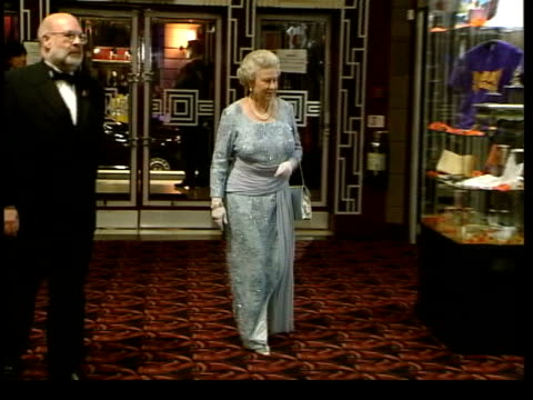 november; in 2002 the queen came forward to save paul burrell lib queen along at bombay dreams film premiere lib burrell surrounded by police... - police statement stock videos & royalty-free footage