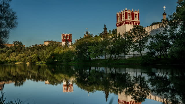 novodevichy convent monastery, moscow, russia - convent stock videos & royalty-free footage
