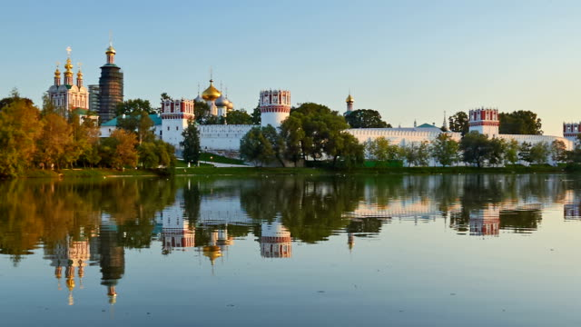 novodevichy convent, moscow - russian culture stock videos & royalty-free footage