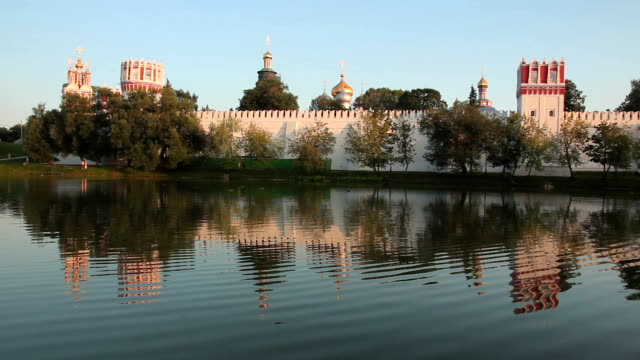 novodevichy convent, moscow - convent stock videos & royalty-free footage