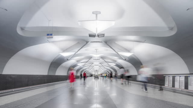 t/l ws novokosino metro station / moscow, russia - underground station stock videos & royalty-free footage