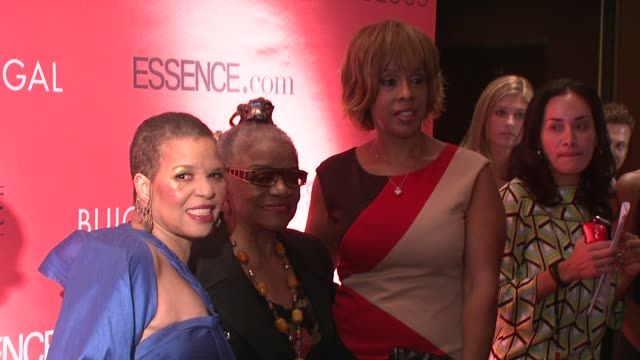 Ntozake Shange Faith Ringgold and Gayle King at the Essence Magazine 40th Anniversary Fierce Fabulous Awards Luncheon at New York NY