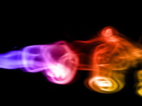 vídeos de stock, filmes e b-roll de ntsc: arco-íris de fumaça - teste de coloração