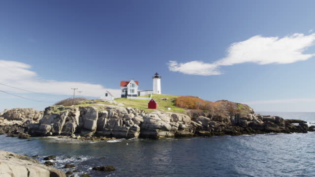 Nubble Light in Maine  as layered timelapse