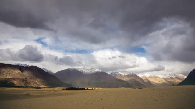 nubra valley the desert, leh ladakh india - storm cloud stock videos & royalty-free footage