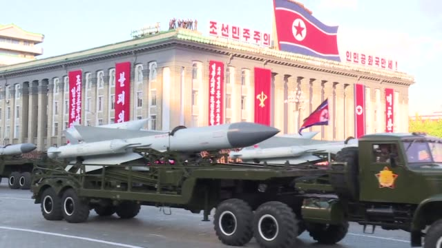 stockvideo's en b-roll-footage met nuclear armed north korea conducts two backtoback tests of a powerful new medium range missile with both achieving a significant increase in flight... - raket wapen