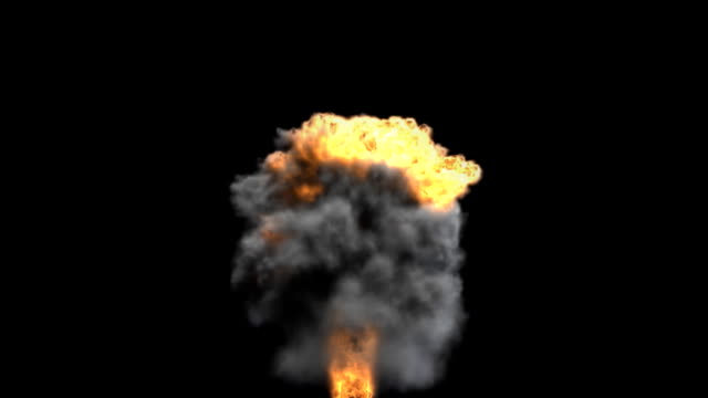 a nuclear explosion creates a huge cloud of smoke. - nuclear weapon stock videos and b-roll footage