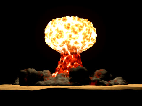 nuclear explosion - atomic bomb stock videos & royalty-free footage