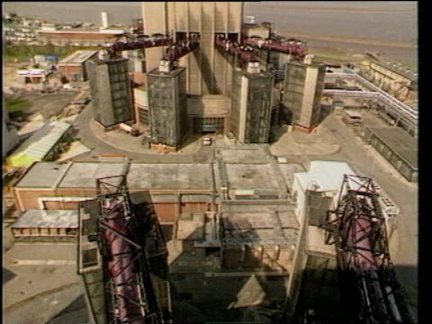 nuclear industry job cuts nuclear industry job cuts int sellafield thorp plant gv part of workings in nuclear plant as circular item moved slowly on... - plant part stock videos and b-roll footage