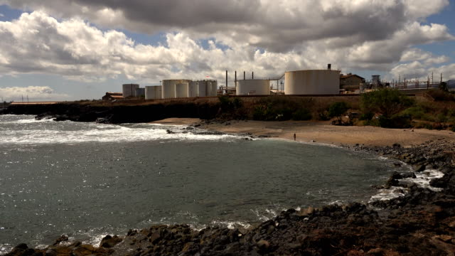 nuclear power plan on kauai island - butte rocky outcrop stock videos & royalty-free footage