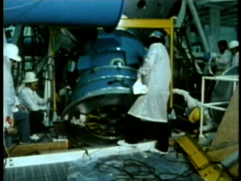 1985 montage ws zo nuclear power plant technicians working audio / usa - nuclear reactor stock videos & royalty-free footage