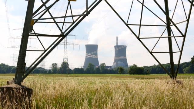 kernkraftwerk - kernenergie stock-videos und b-roll-filmmaterial