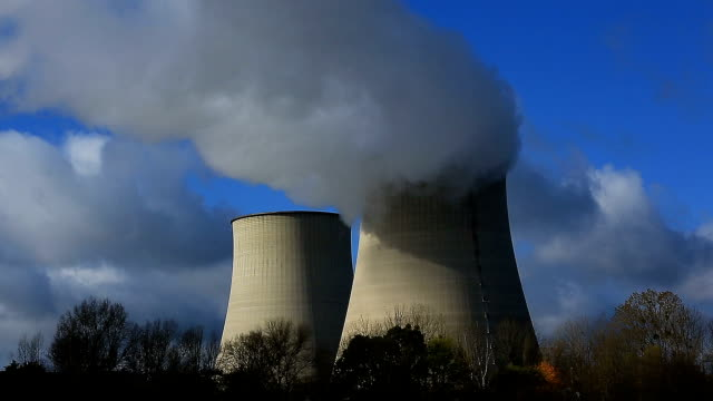 nuclear power station, belleville sur loire, cher, centre val de loire, france - nuclear power station stock videos and b-roll footage