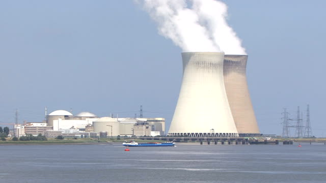 nuclear power station hd1080 - nuclear power station stock videos & royalty-free footage