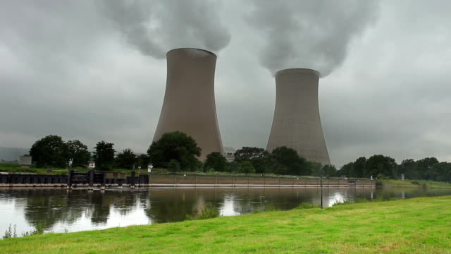 nuclear power station on a rainy day - synthpop stock videos & royalty-free footage