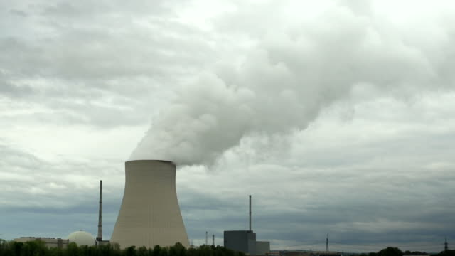 hd nuclear power station time lapse (4:2:2) - meteorologie stock videos & royalty-free footage