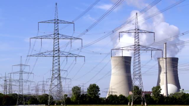vídeos y material grabado en eventos de stock de t/l central nuclear - fusión nuclear