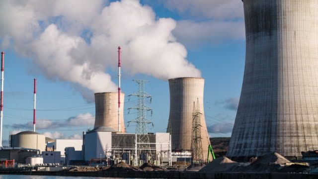 nuclear power station - nuclear power station stock videos & royalty-free footage