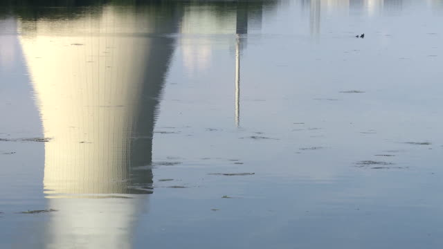 Nuclear Power Station Water Reflection