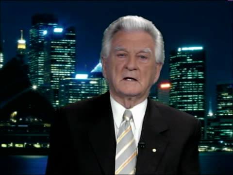 radioactive waste england london gir int bob hawke 2way interview exaustralia sot i'm not a geologist but have consulted scientific experts assured... - bob hawke stock videos and b-roll footage