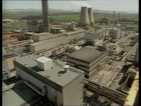 spent fuel leaks itn sellafield tgv nuclear power station storage buildings av steelwork generating building - sellafield nuclear power station stock videos & royalty-free footage