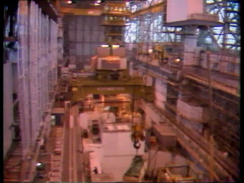 spent fuel leaks **** rushes not kept england hinckley airv nuclear power station tx14586 itn sellafield tgv generating hall tms fuel rods embedded... - sellafield nuclear power station stock videos & royalty-free footage
