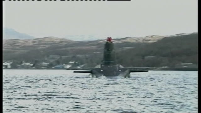 Nuclear submarines at Faslane Naval Base General views of submarines along in water