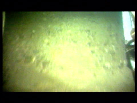 nuclear waste dumped in the irish sea; lib underwater pix: dumped munitions on the sea bed track - undersea stock videos & royalty-free footage